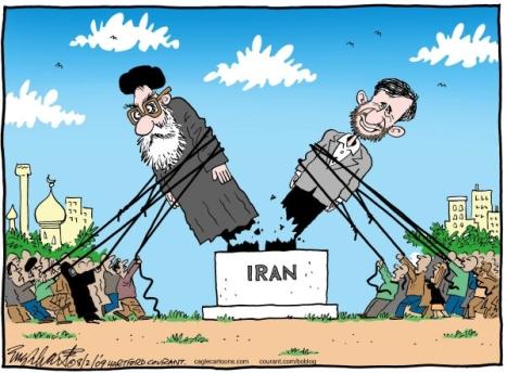 دولت کودتا احمدی نژاد و  رهبر ایران